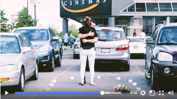 Ingersoll Couple Goes Viral After Amazing Movie Theatre Proposal - WATCH