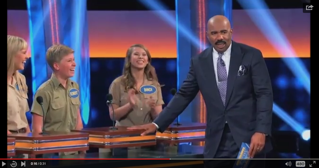 Robert Irwin Hilariously Corrects Speech For A Confused Steve Harvey - WATCH
