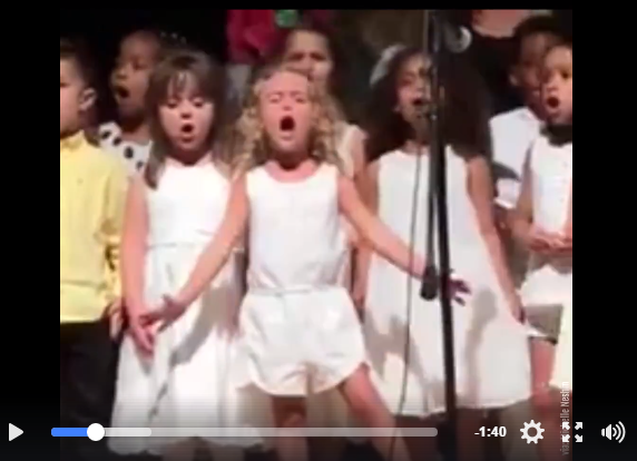 Little Girl Destined For Stardom During Graduation School Performance - WATCH