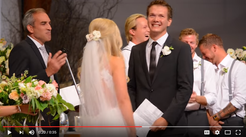Groom Adorably Screws Up Wedding Vows...Tiwce - WATCH