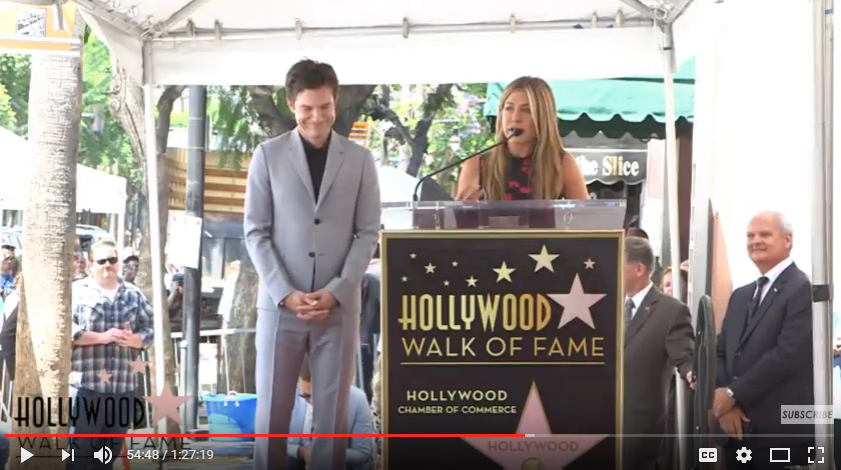 Jennifer Aniston roasts BFF Jason Bateman at Walk of Fame Star Ceremony. WATCH