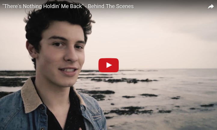 "Behind the scenes of ""There's Nothing Holdin' Me Back"" by Shawn Mendes. WATCH"