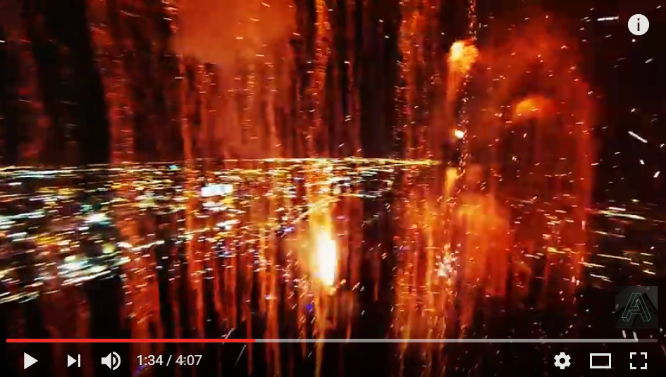 Mesmerizing Video Of Fireworks From Drone Goes Viral... Again - WATCH