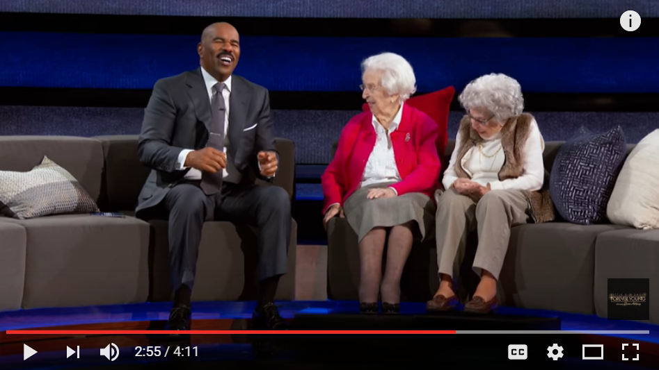 103 Year Old Best Friends Get Sassy With Steve Harvey - WATCH