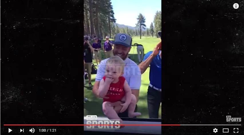 Justin TImberlake & Steph Curry Sing Lion King With Baby At Gold Tournament - WATCH