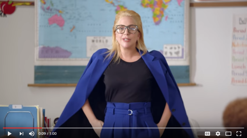 Students Get Huge Surprise As Lady Gaga Becomes Substitute Teacher - WATCH