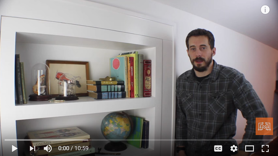 This Guys Teaches You How To Build Yourself A Secret Bookcase - YES PLEASE!