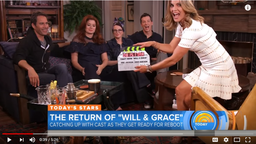 The Today Show helps Everyone Gear Up For The 'Will & Grace' Reboot - WATCH