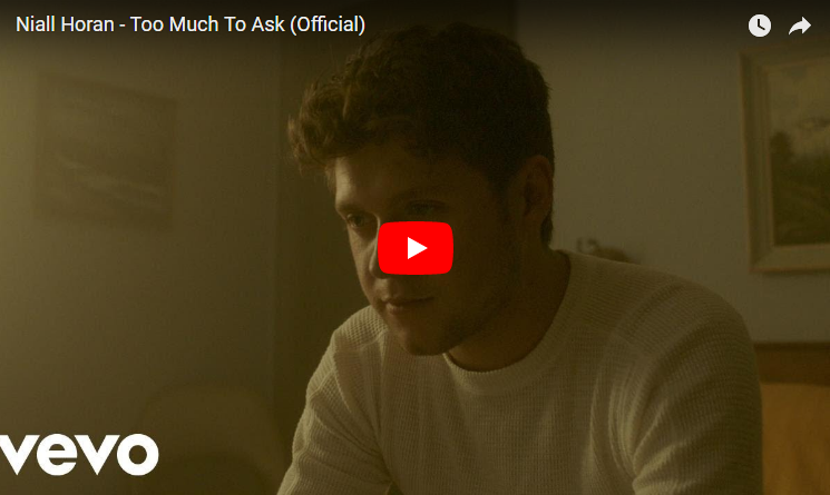 "Niall Horan releases ""Too Much To Ask"" music video. WATCH"