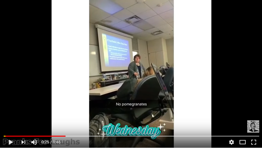 A college professor rants about pomegranates. WATCH