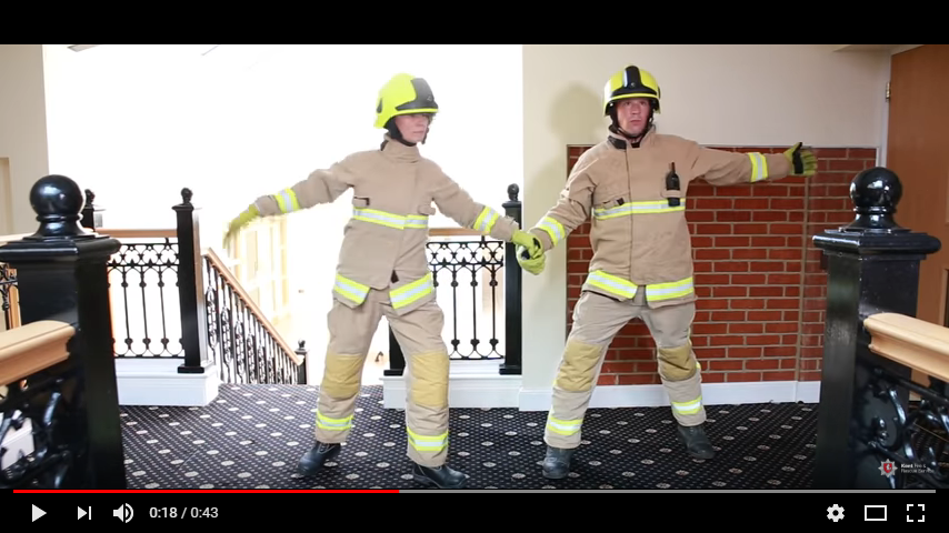 "Two firefighters reenact a ""Dirty Dancing"" scene for a safety video. WATCH"