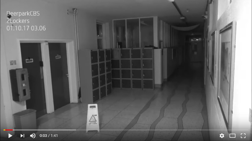 Did security cam film a ghost creating havoc at a high school? WATCH