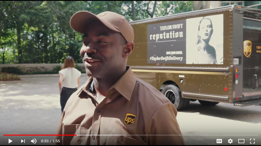 Did Taylor Swift debut a new song in a UPS commercial?