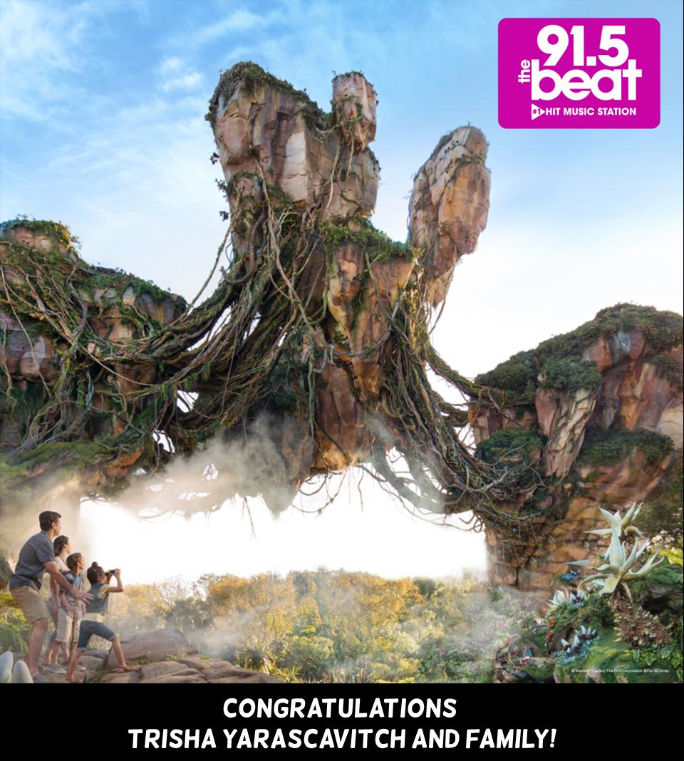 LISTEN:Congratulations to Trisha Yarascavitch, winner of a Walt Disney World Vacation to Pandora-The World of Avatar!