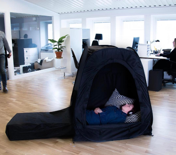 "Introducing the Pause Pod, for at work ""relaxation"""