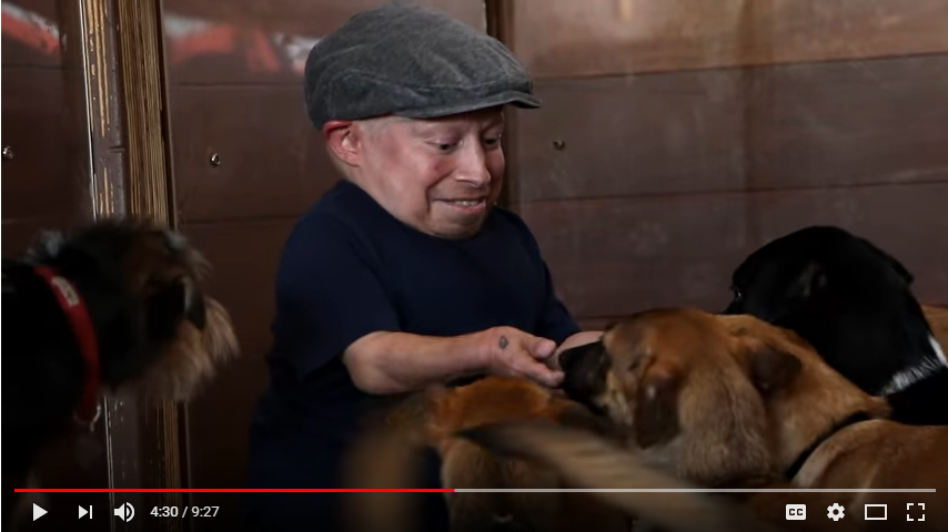Verne Troyer visits the Animal Hope and Wellness Foundation. WATCH