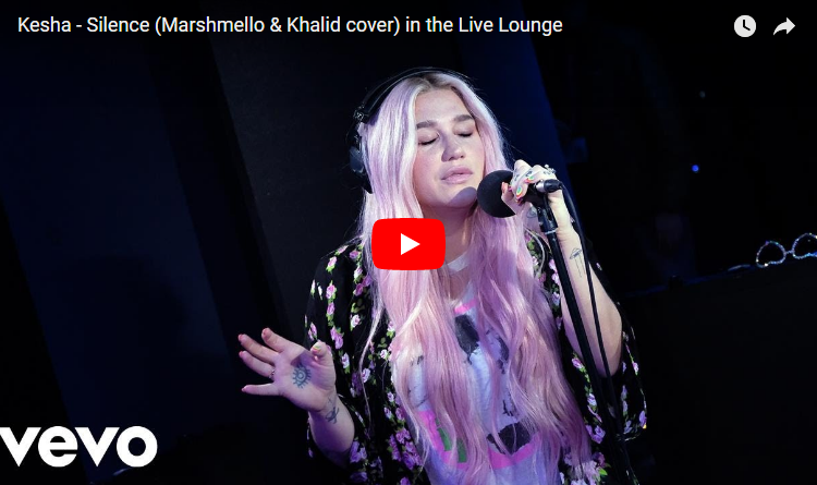 "Kesha delivers an outstanding cover of Khalid and Marshmello's ""Silence"". WATCH/LISTEN"