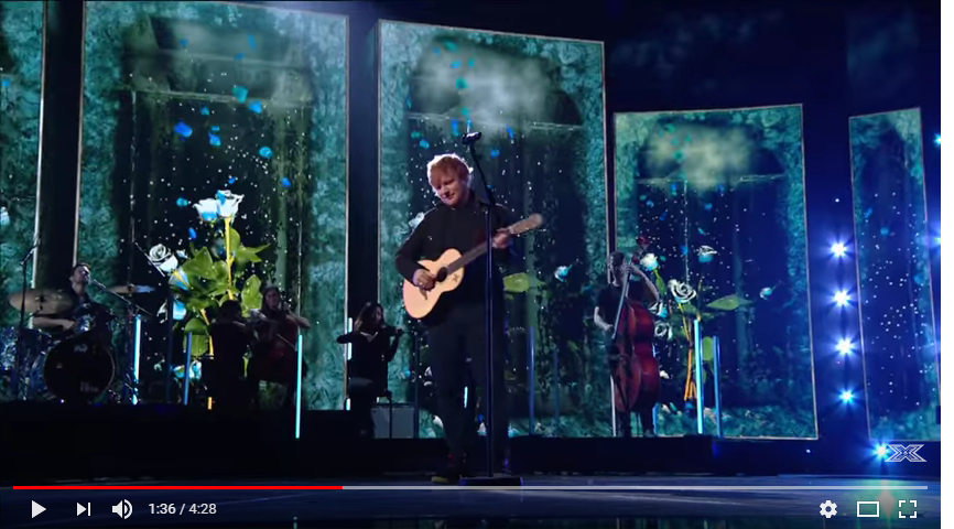 """Ed Sheeran performed """"Perfect"""" on the X Factor over the weekend. WATCH/LISTEN"""