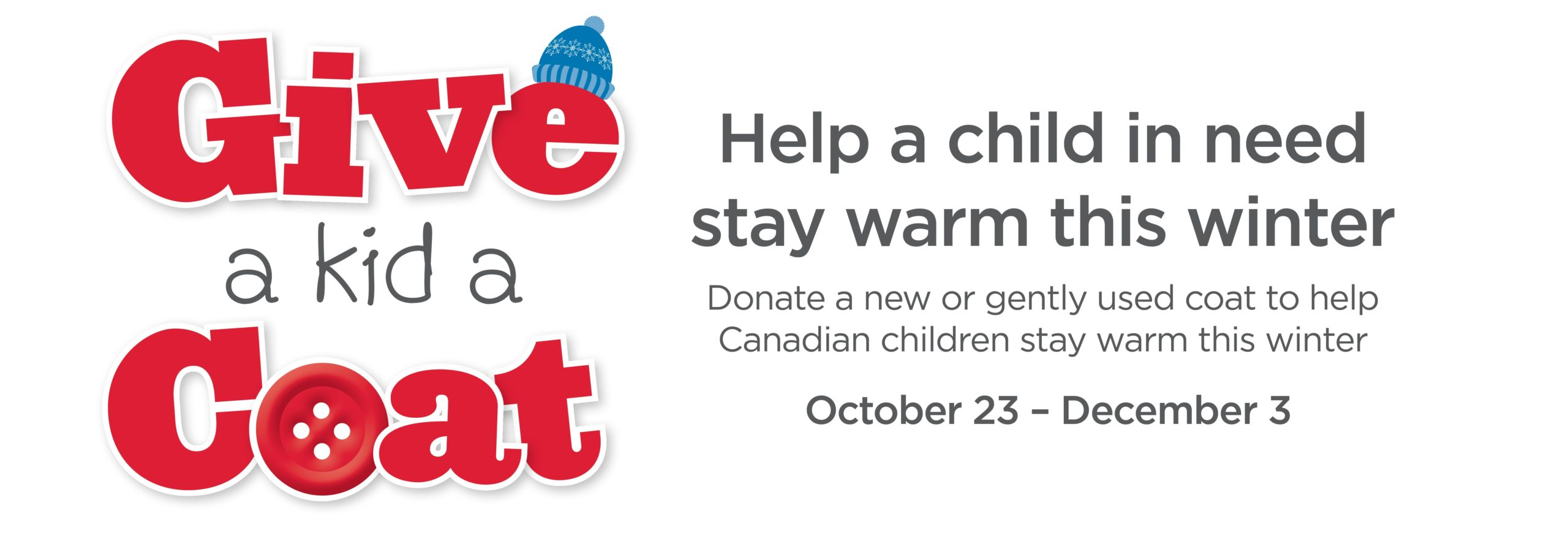 """""""Give A Kid A Coat"""" this year w/ Sleep Country!"""