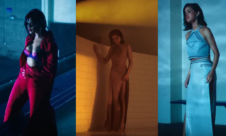"""SELENA GOMEZ wears multiple dresses in official """"Wolves"""" video [WATCH]"""