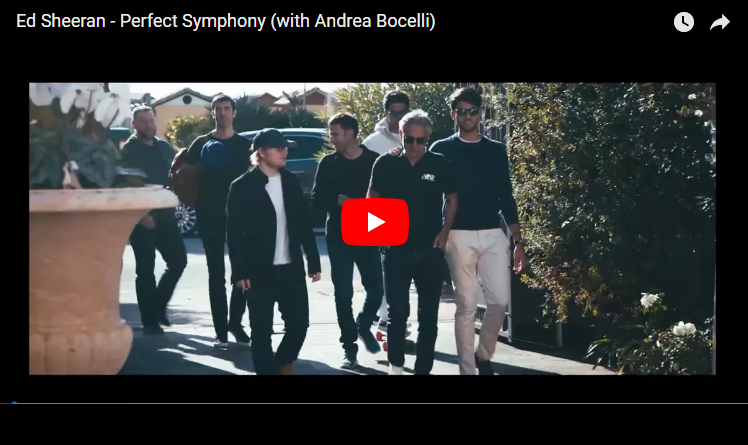 Ed Sheeran releases new music with Andrea Bocelli and it's AMAZING! WATCH/LISTEN