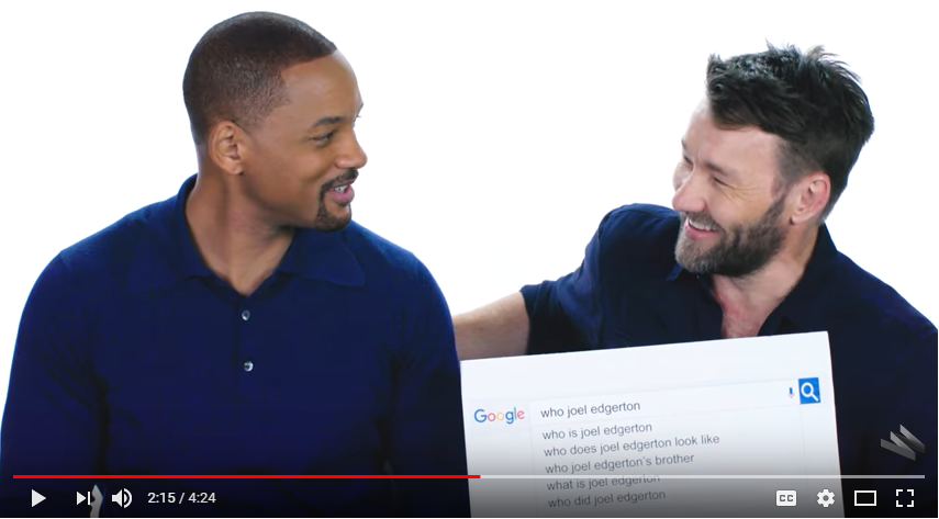 Will Smith and Joel Edgerton answer the web's most searched questions. WATCH
