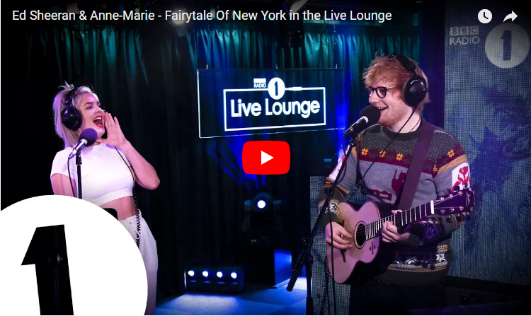 Ed Sheeran & Anne Marie slay their cover of a rowdy holiday classic. WATCH/LISTEN