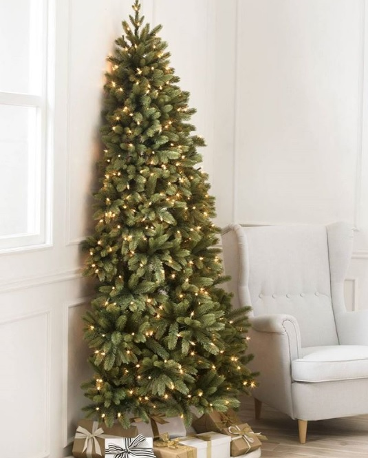 Always wanted HALF a Christmas tree?  You're in luck!