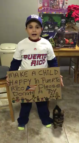 WATCH:Adorable 8-year-old asks for Christmas presents for kids in Puerto Rico