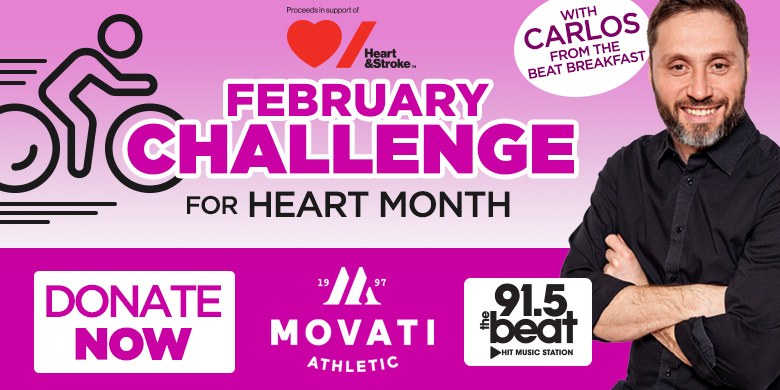 Donate here to Carlos' February Challenge For Heart And Stroke
