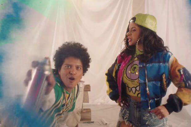 """Bruno Mars & Cardi B """"Finesse Remix"""" is a 90's Throwback Video [WATCH]"""