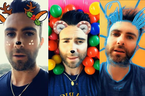 "Maroon 5 ""Wait"" Video is Just Adam with Different Snapchat Filters [WATCH]"