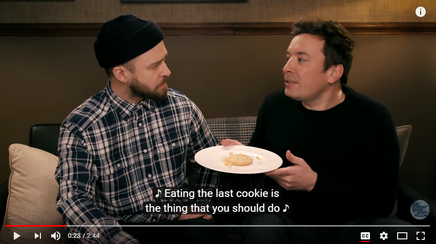 Songversation with Justin Timberlake & Jimmy Fallon! Very creative and funny. WATCH