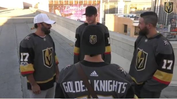 """Golden Knights Recreate Scene from """"The Hangover"""""""