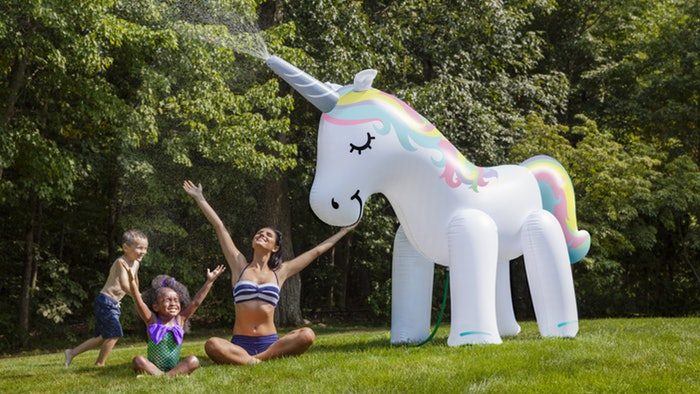 Ginormous Unicorn Sprinkler Is Your Summer Party Saver