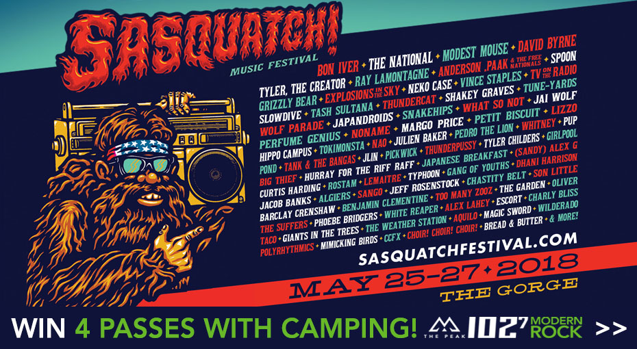 Win Sasquatch passes with camping!