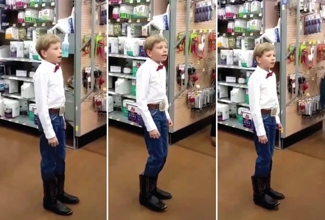 This Boy Yodeling In Wal-Mart Is Everything You Needed