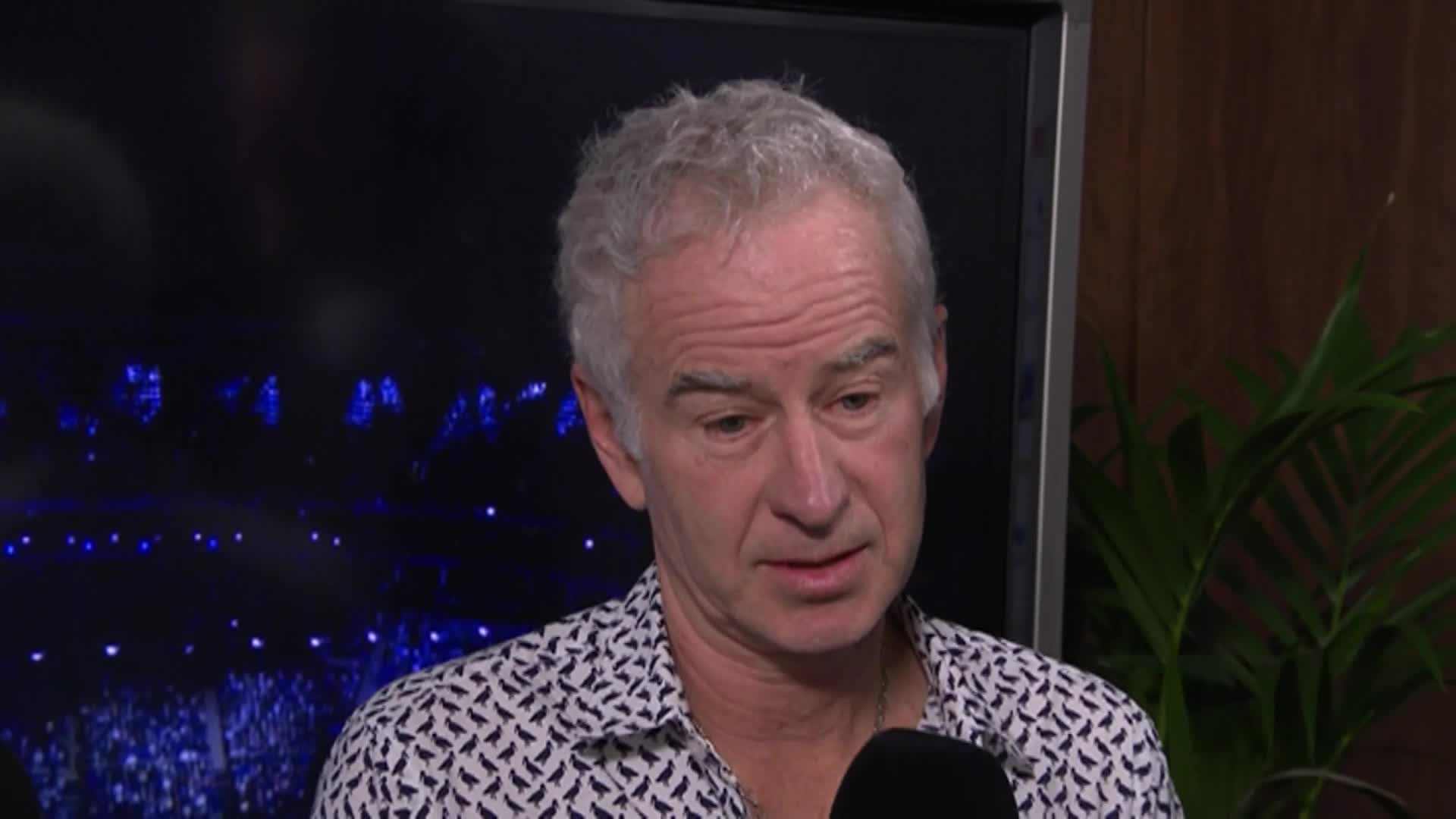 John McEnroe on Colbert!  Him and his BIG MOUTH!