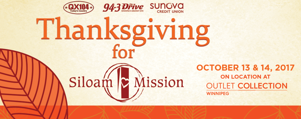 Thanksgiving for Siloam - October 13th & 14th 2017