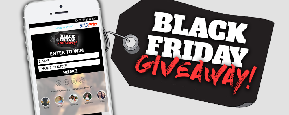Win Each Weekday with our Black Friday Giveaway!