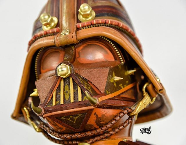 Louis Vuitton MEETS Star Wars? Check out these incredible masks made old from LV bags!!!