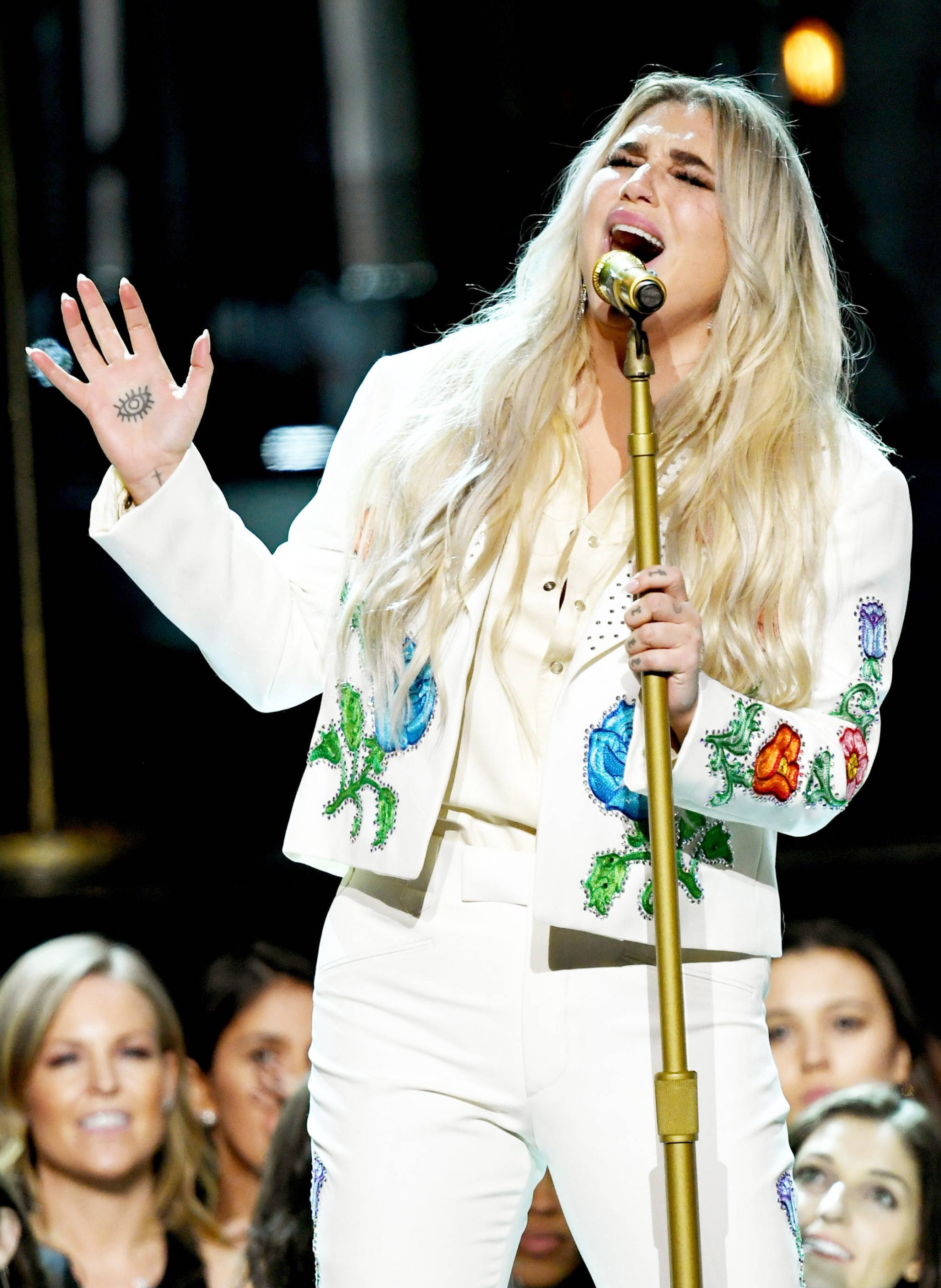 Kesha rocked the Grammy's with this powerful performance! #TimesUp