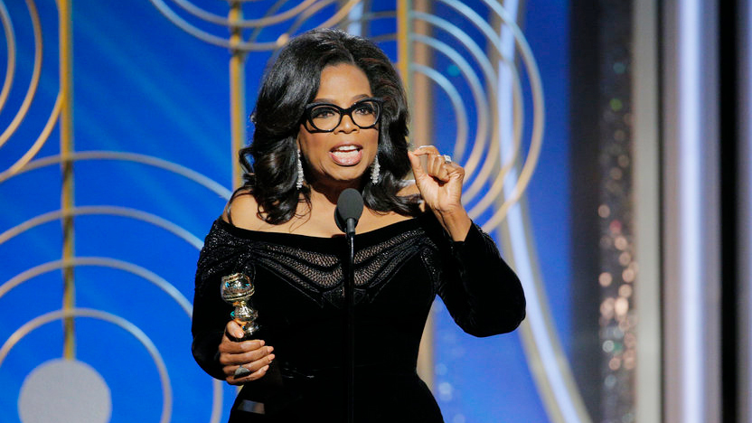 Oprah receives the Cecil B deMille Award.....the full acceptance speech.