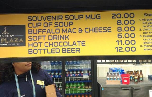 Check out these FOOD PRICES at the SUPER BOWL!