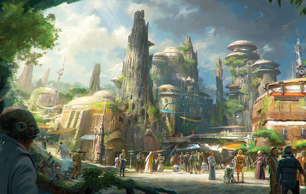 STAR WARS THEME PARK IS IN CONSTRUCTION : AMAZING!!!!!!!