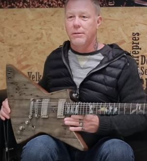 James Hetfield's New Guitar Is Made Of What?!