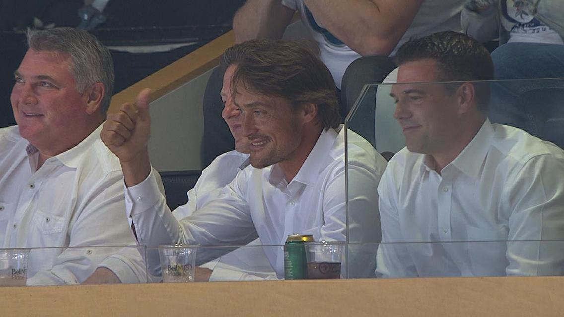 Teemu...on finally being able to get back to experience another Winnipeg Whiteout.