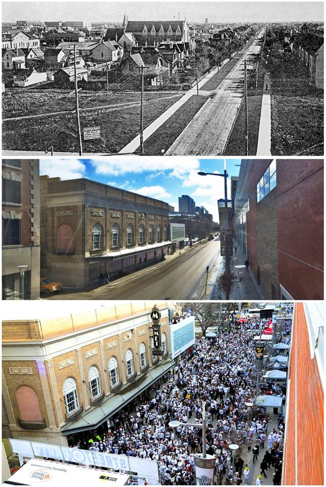A THEN and NOW picture of Donald Street!