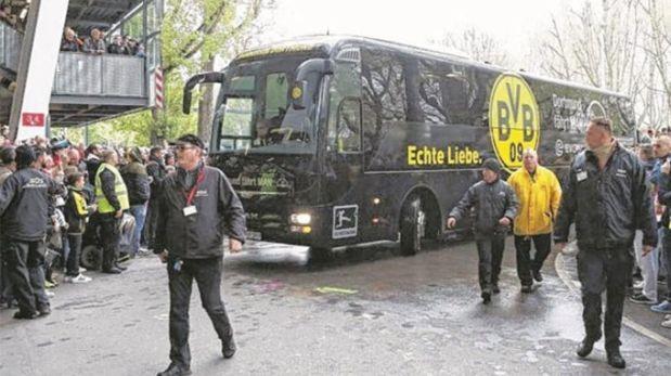 Urgente: Explosión en el bus del Dortmund deja un jugador herido