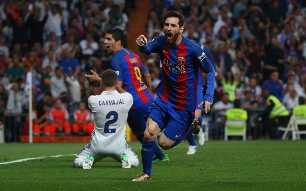 Messi marca dos y Barcelona se impone sobre el Real Madrid